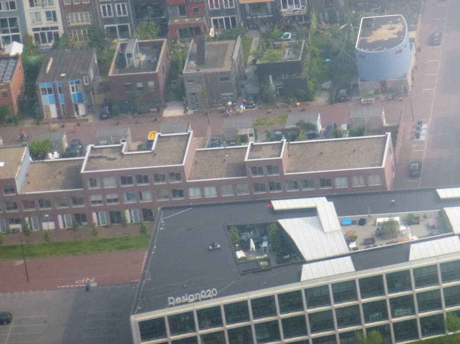 Aerial picture, the black windows in the middle are yours...