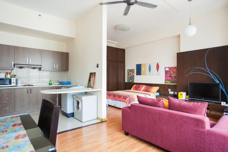 Studio apartment 400m to KLCC TOWER