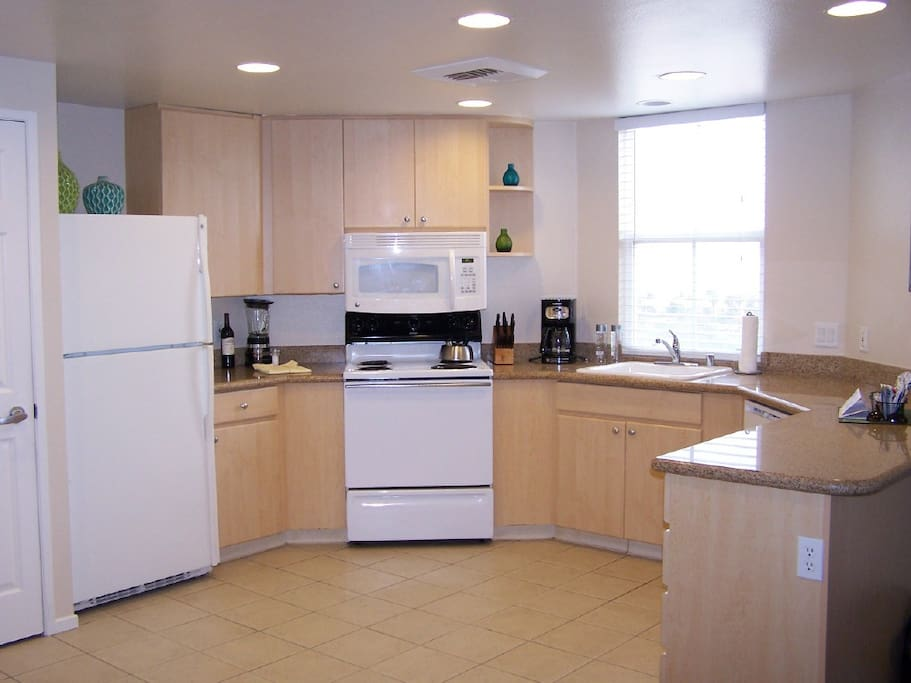 Large Kitchen with ocean view