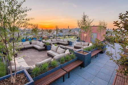 Sunny, modern Williamsburg with roof deck & gym! - Brooklyn - Apartment