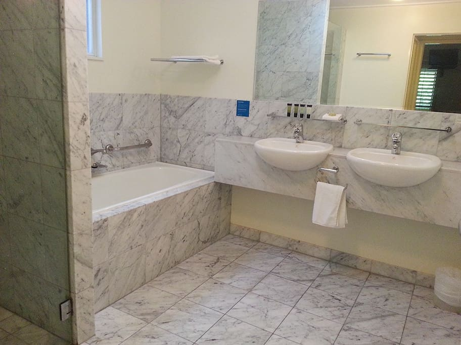 Large bath and separate shower