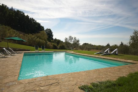Apartment great views, pool & quiet - Barberino Val D'elsa