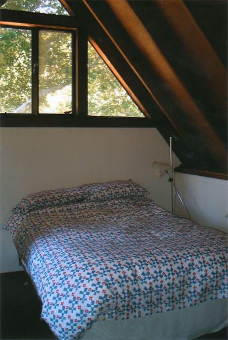 Loft bedroom with 1/2 bath