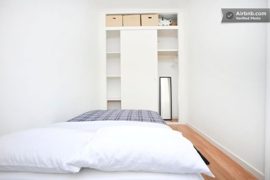 Your bedroom. With huge closet space! Shopping!