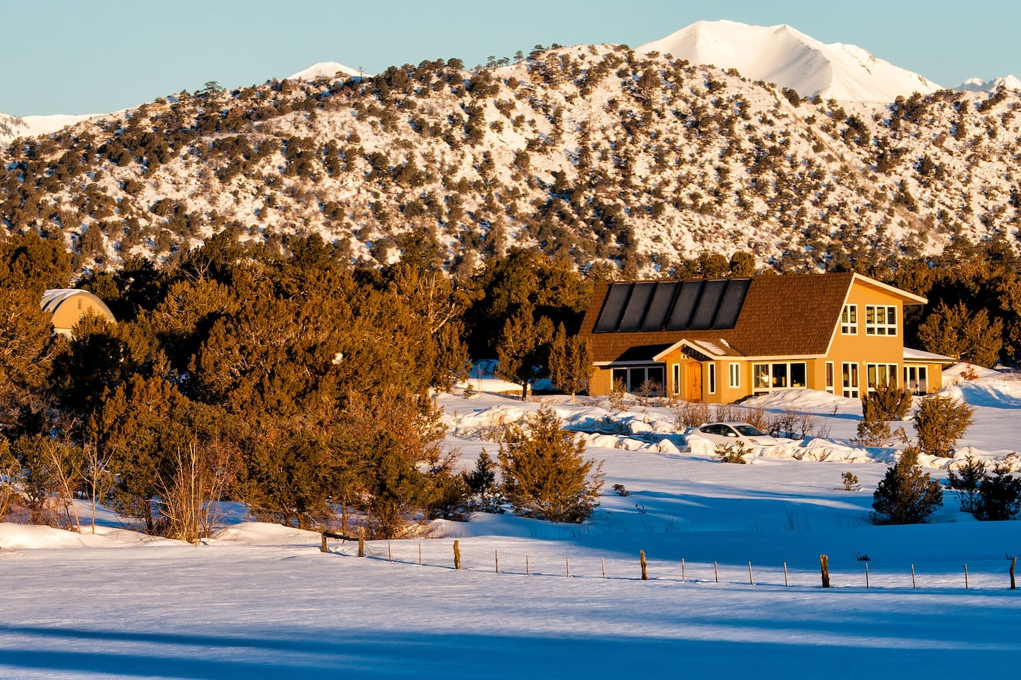 We welcome you to stay with us in our modern solar home nestled in the Colorado countryside just 9 miles from downtown Durango towards the La Plata County airport