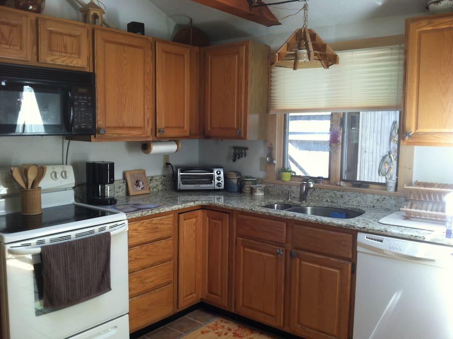 Our spotless kitchen