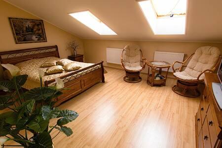 уютная квартира-мансарда в центре