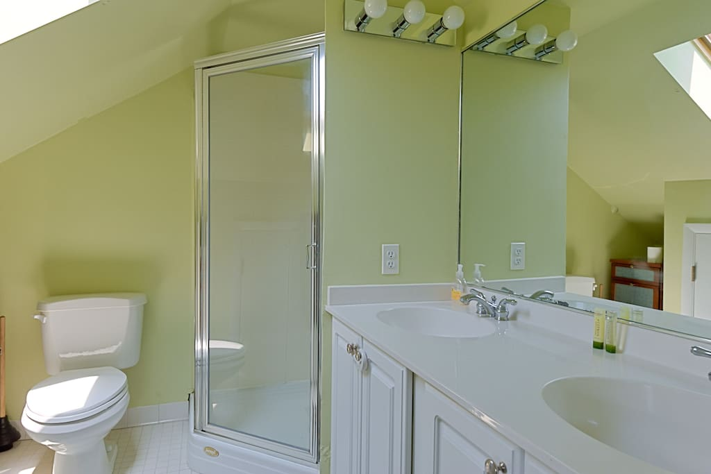 Private Bath with Shower and Double Sink