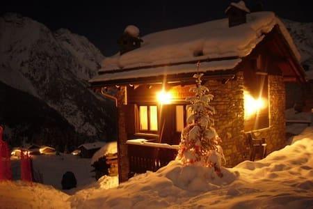 "Baita Chalet  in Valtellina  ""Beata Solitudo"" - Barchi - Blockhütte"