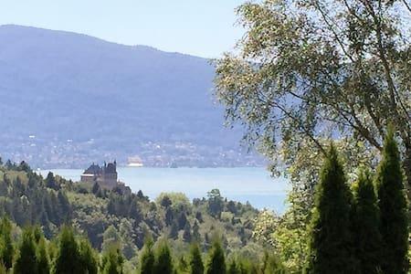 Chalet vue exceptionnelle lac d'Annecy - Bluffy