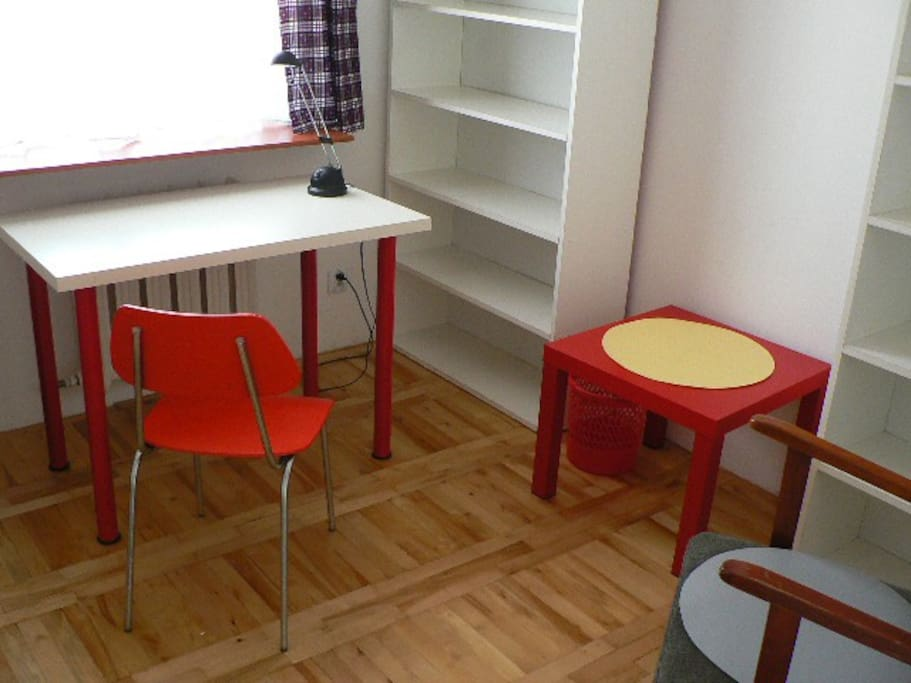 small room (12sqrm) with two single beds