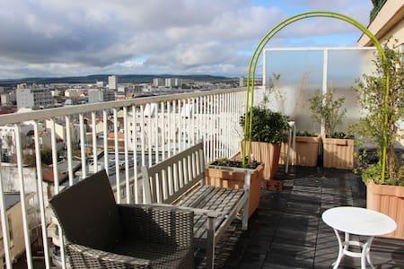 Vue panoramique proche de la gare - Lejlighed