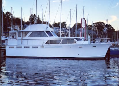 Charming Classic Yacht (double bed) - Jersey City - Boat