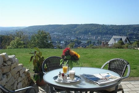 Appartment mit Terrasse +Rheinblick - Apartamento