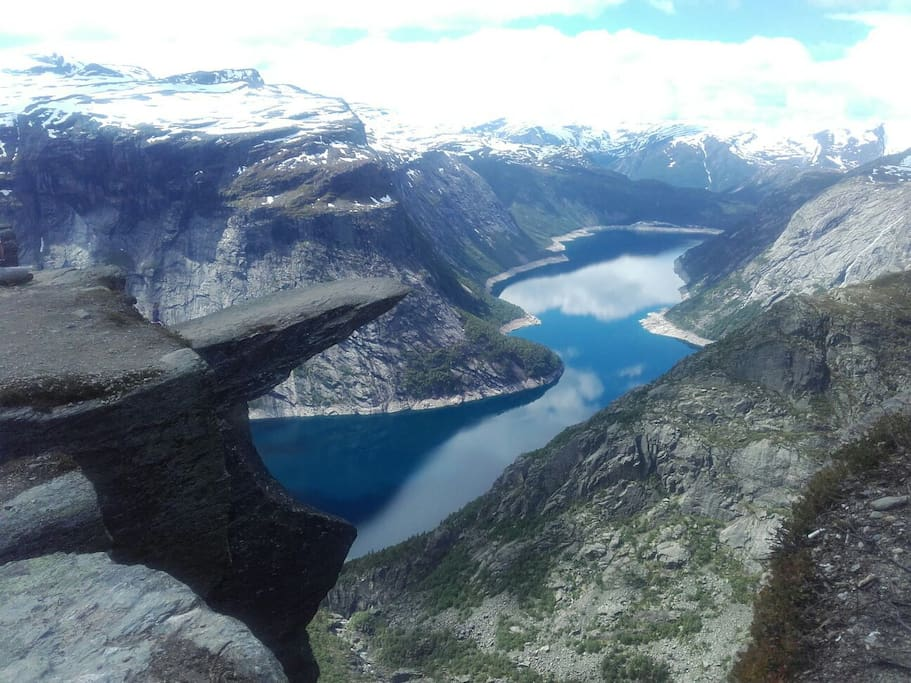 Trolltunga,a natural attractions in hardanger thats within easy reach from my home