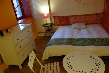Chambre rouge en centre ville - Bed & Breakfast