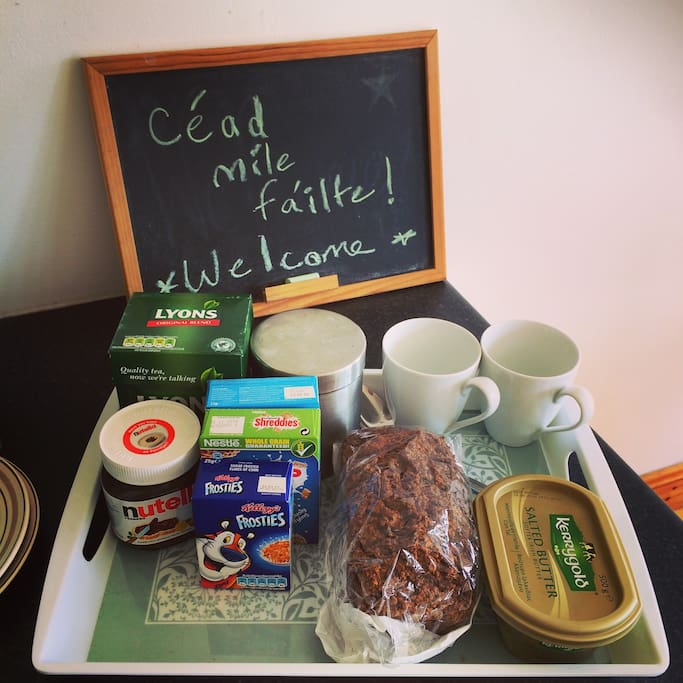 Irish butter and Irish tea with your complimentary breakfast!