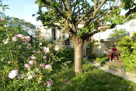 Chambre calme maison jardin fleuri - House