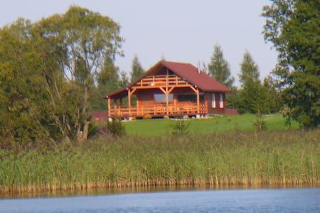 Spacious Cottage on the lake Mazury - Gmina Rajgród - Huis