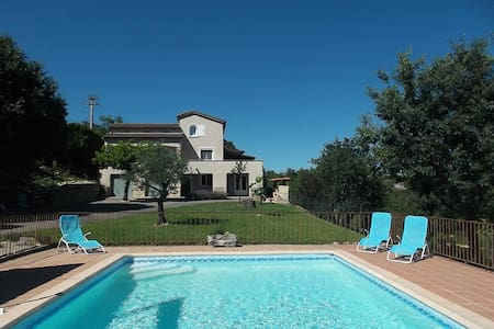 Ardeche house at the river for 12p - Lanas - Villa