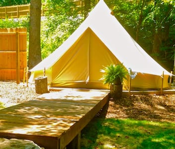 WNC Glamping Tent-Cabin by River #1 - Telt