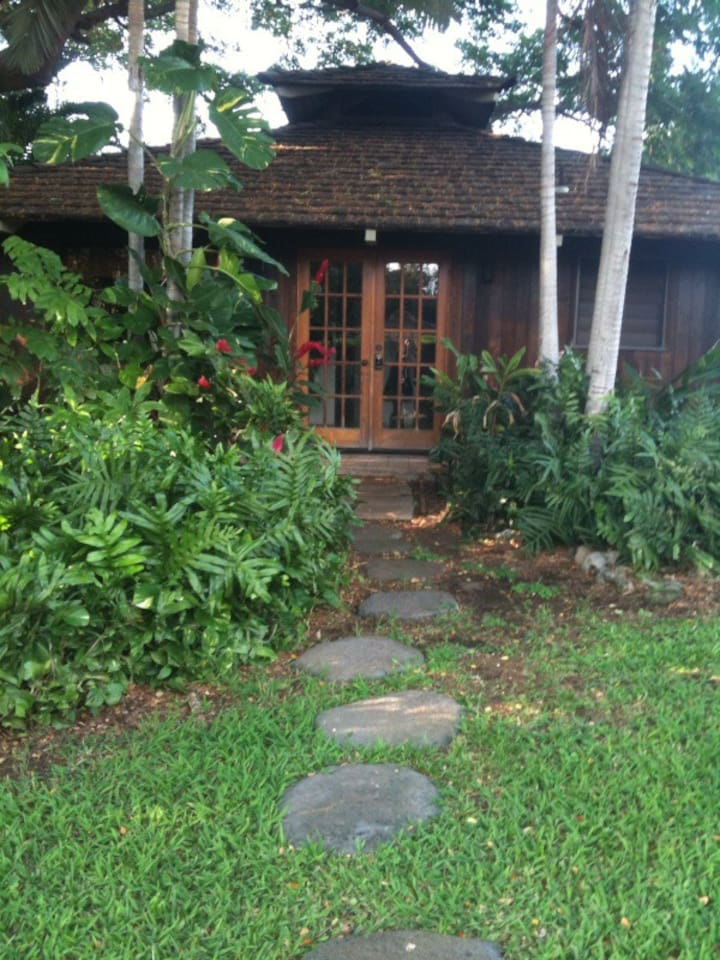 The Ohana on a private 1/2 acre compound in natural tropical setting