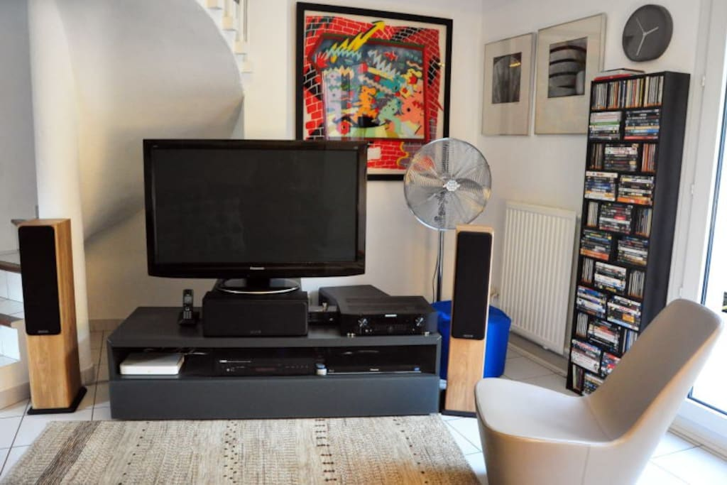 Wi-Fi, TV & Hi-Fi, with CD player, DVD/Blu-ray player & 5.1 audio surround system