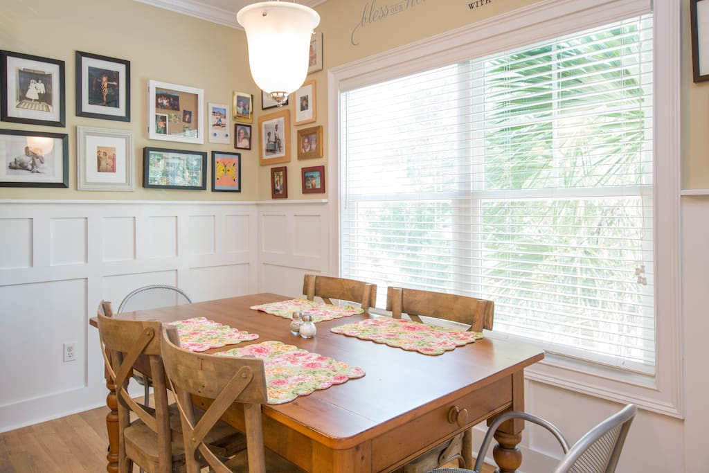 Common area.  Dining room.  We serve fresh gourmet coffee every morning.