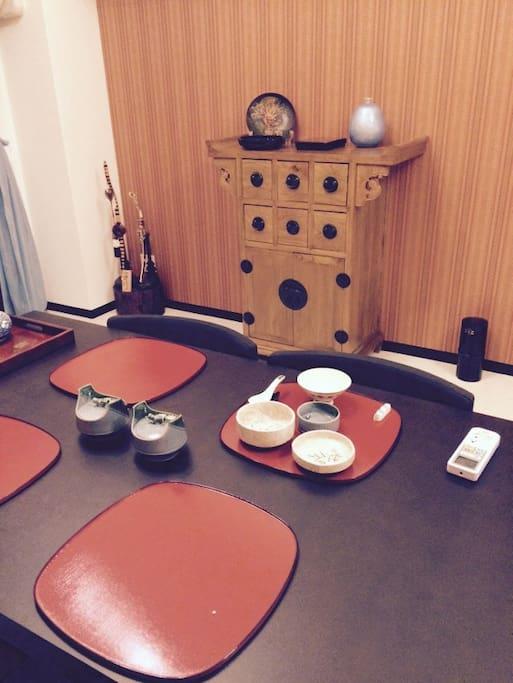日式餐具,餐桌交流的好空間
