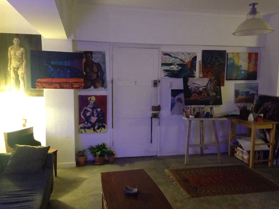Constant art changing. House-gallery