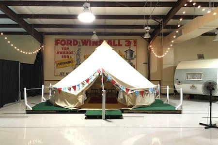 Big Bertha 16' Yurt Inside the Glamp Inn - Yurt