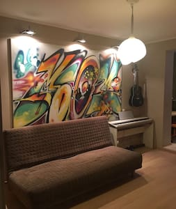 Cute apartment for family near the Subway station - Moskva - Apartment
