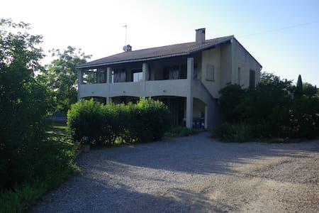 Appartement type F2 avec grande terrasse et jardin - Maison