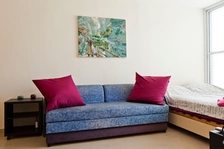 A lovely city mini-apartment, with a shared porch. - Ramat Gan - Huoneisto