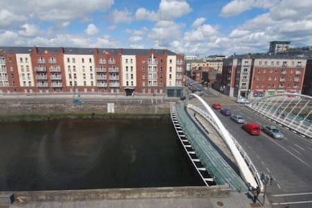 You are renting a double room in a two bedroom apartment. The apartment is very close to Guinness Brewery and Jameson Distillery.  Walking, tram and bus conveniently to city centre. The apartment is situated along the River Liffey with a view to Phoenix Park. The apartment is secure and private.