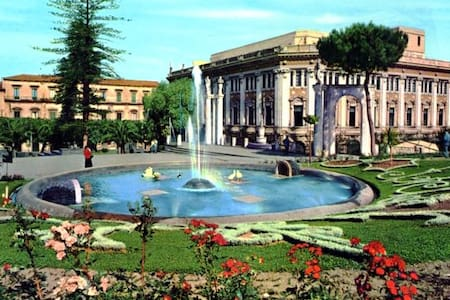 In the heart of the city of Catania , a nice apartment welcomes you with all its splendor . It composed of bedroom + kitchen , ideal location for visiting the sights of the city of Catania and the main markets