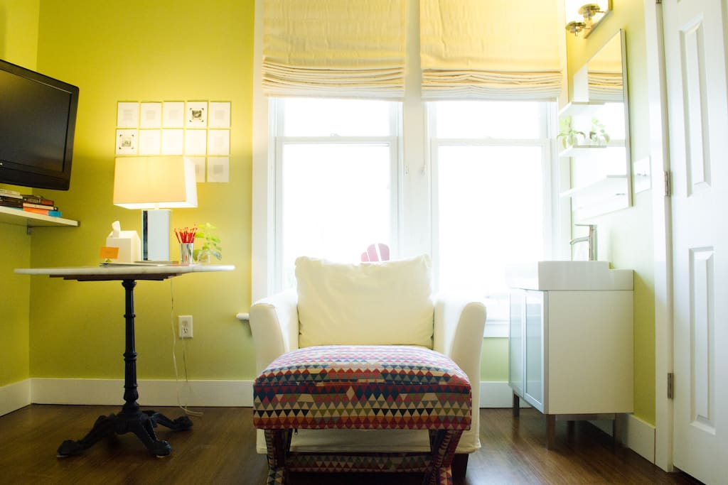 Cozy, comfy nook in the Story Suite.