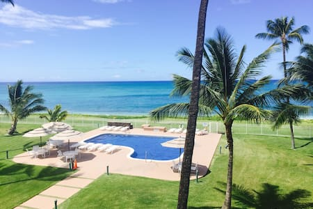 Special Maili Cove Ocean Beach Front Condo Sunset - Waianae