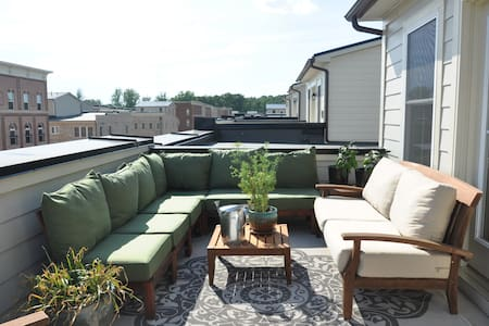 Private Sunny Balcony loft - walk to DC MARC train - Gaithersburg - Radhus