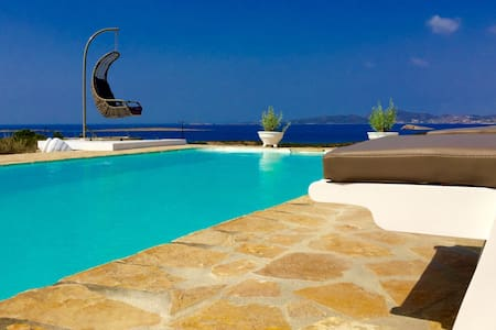 Luxury villa with pool and sea view - Αλυκή