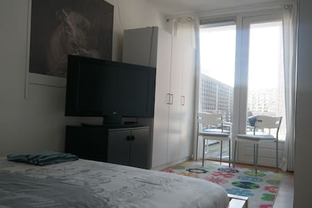 2person Room, doble bed, terras