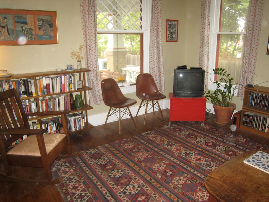 Another bedroom: Lovely antique furnishings, lots of natural light from multiple directions, spacious