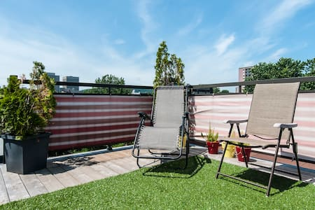 Bright Loft, rooftop terrace & View - Montréal - Loft