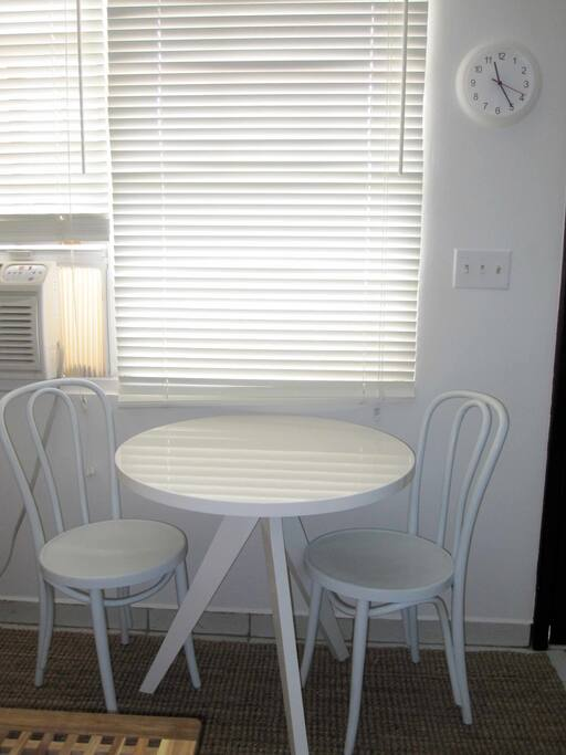 Dining area for 2 people