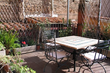 A terrace in the green and in historic Rome - Roma - Apartment
