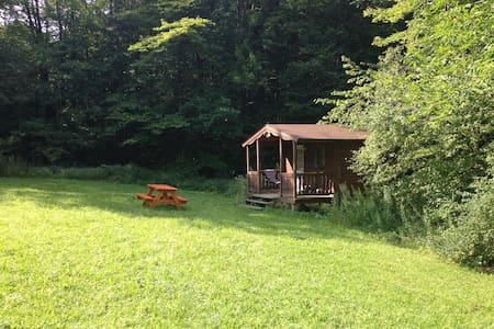 Log Cabin w/access to 20 mi. trails - Freeville - Cabaña