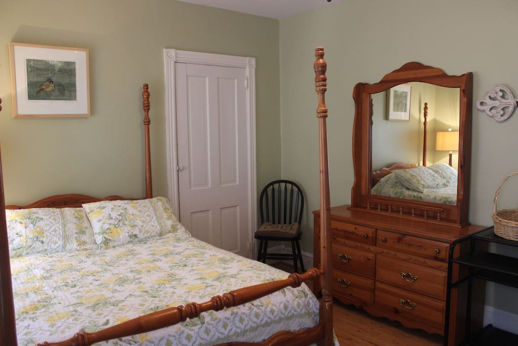 The guest bedroom with full bed.