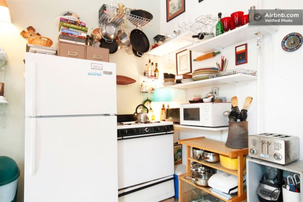 The Kitchen.  Fully equipped for those who cook.  (Though if you've never done it at home, don't try it here ;))