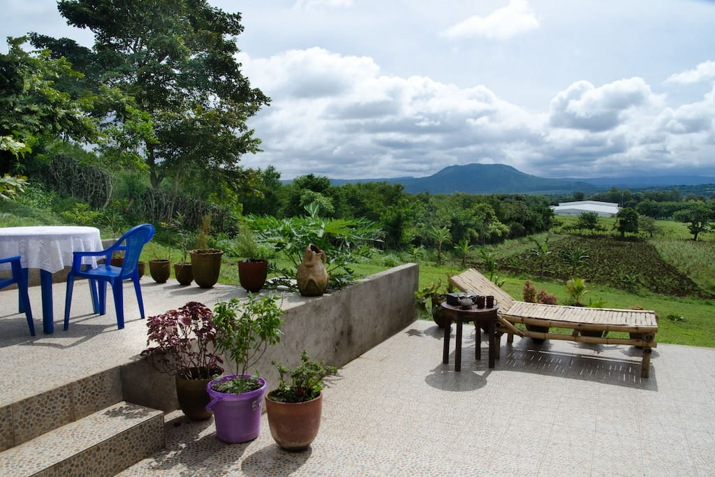 Terrace with a view of Volcan Masaya and Volcan Santiago for your amazing sunset views.