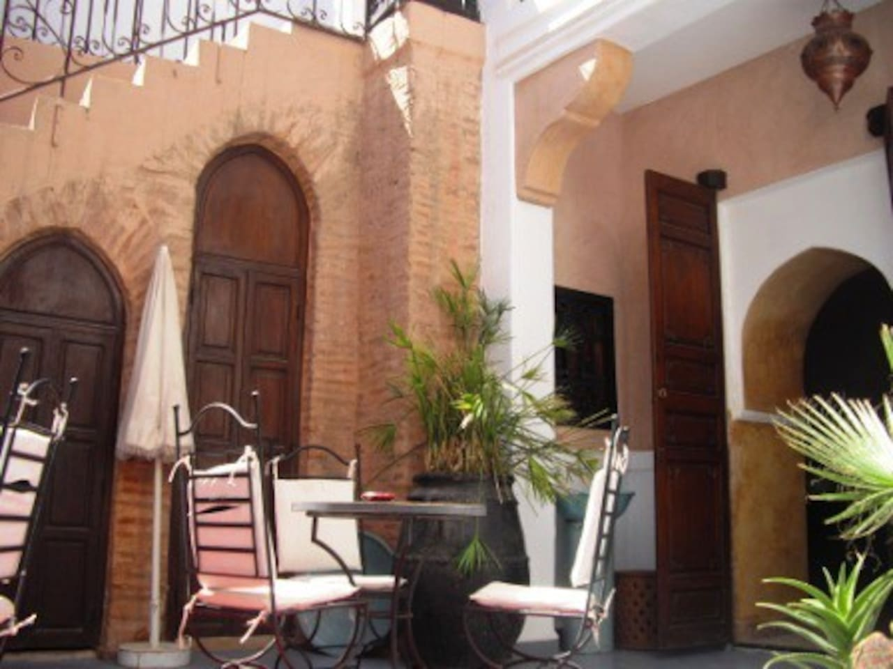 Bed and Breakfast in a Riad.